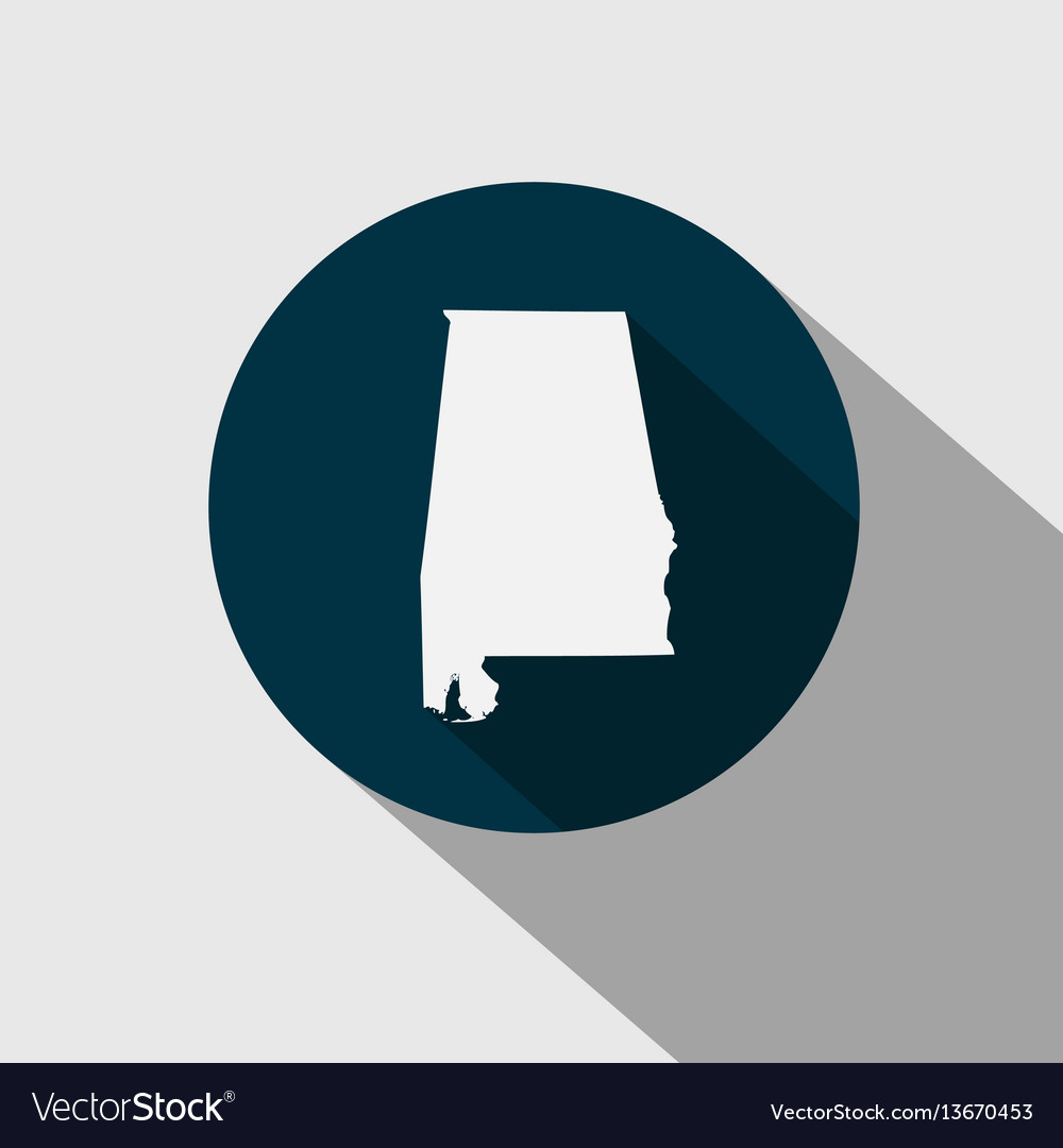 Map us state alabama