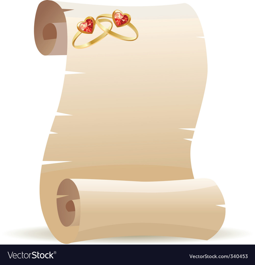Old scroll for wedding invitation Royalty Free Vector Image