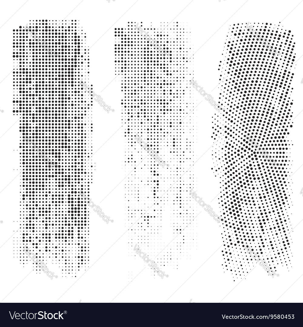 Set of Vintage Abstract Halftone Backgrounds