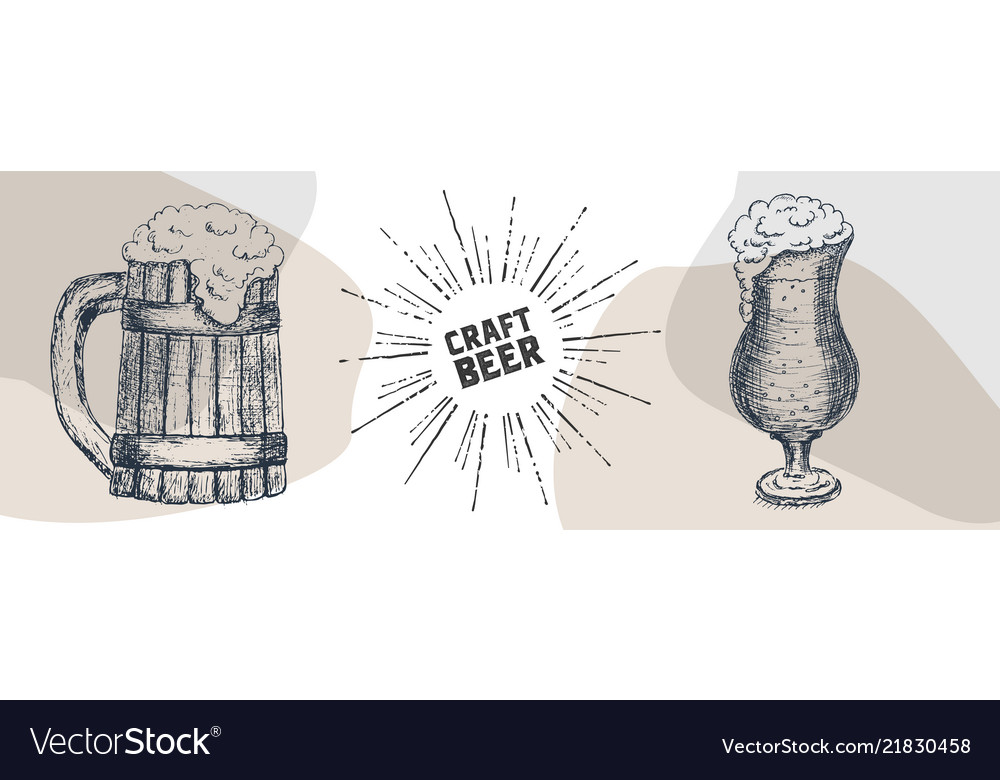 Beer graphical objects used for beer festival