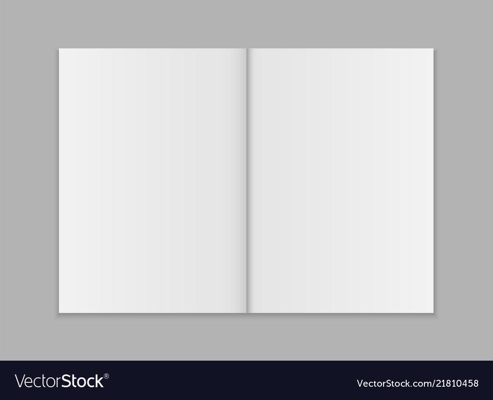 Blank open magazine template