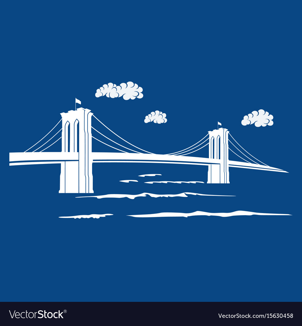 Brooklyn blue vector image