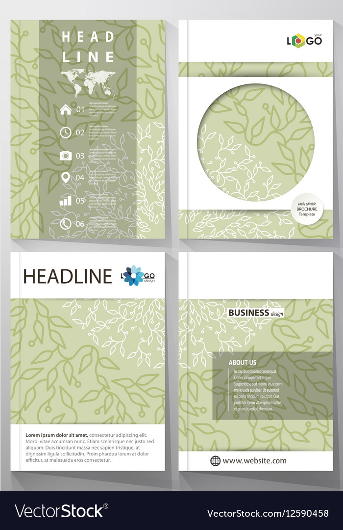 Business templates brochure flyer annual report vector image