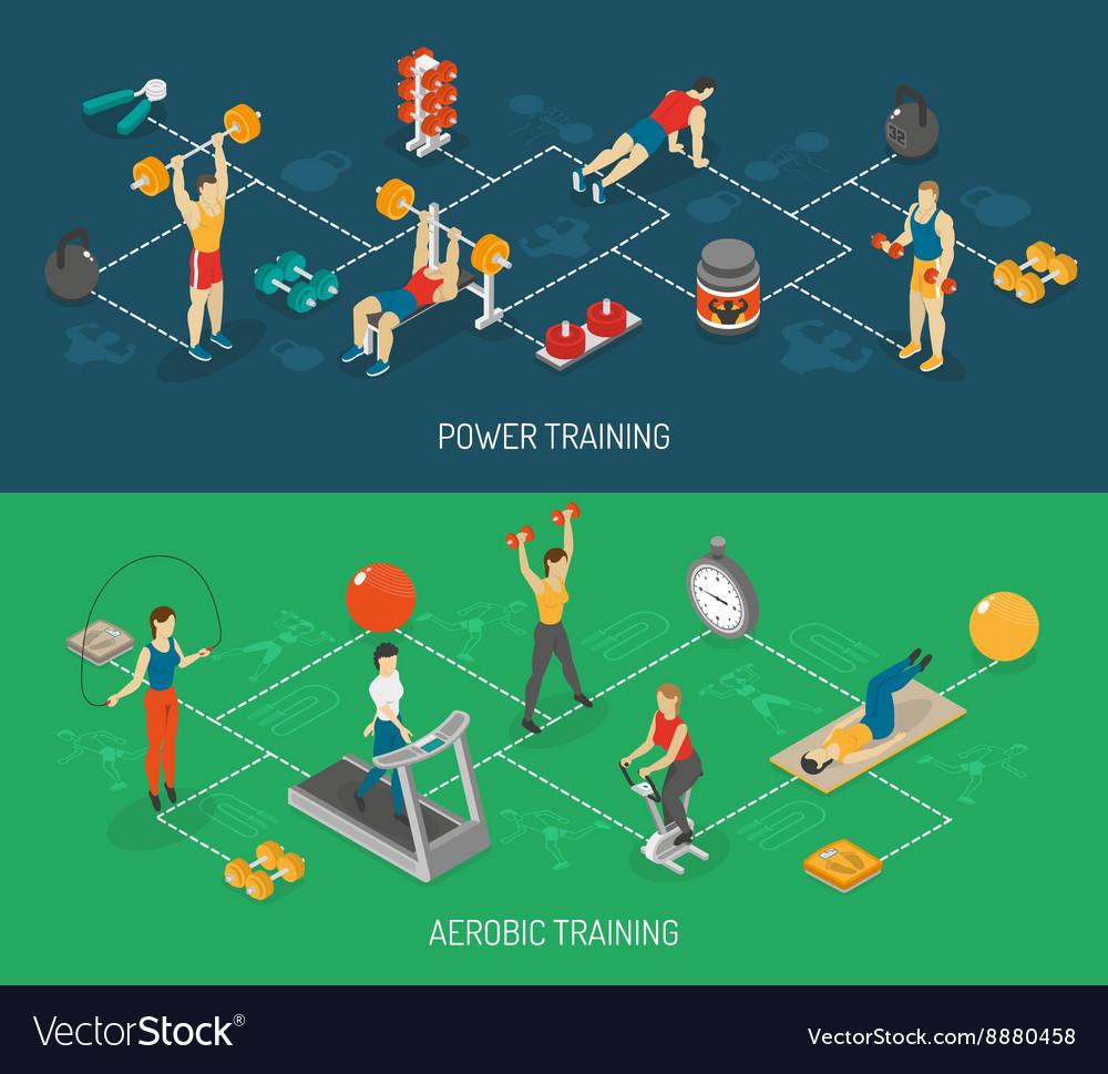 Cardio And Strength Training Isometric Banners