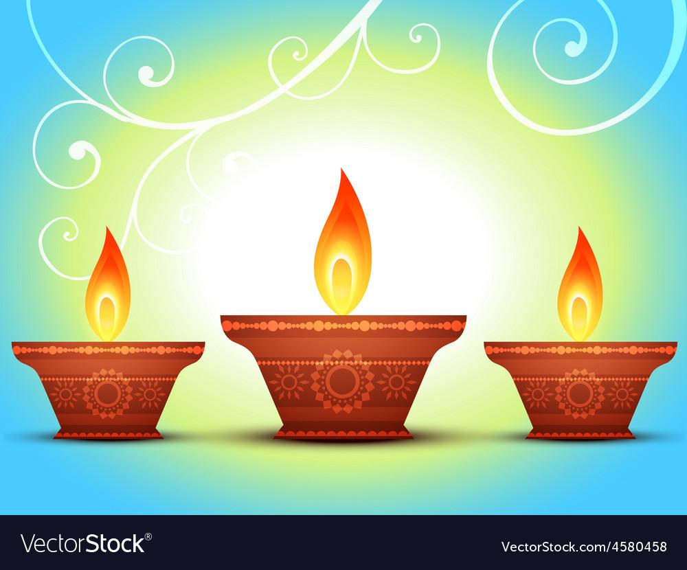 Diwali Greeting Royalty Free Vector Image Vectorstock