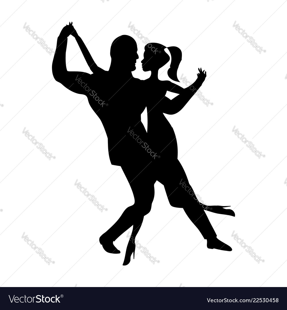 Man and girl dance silhouette music dancing a