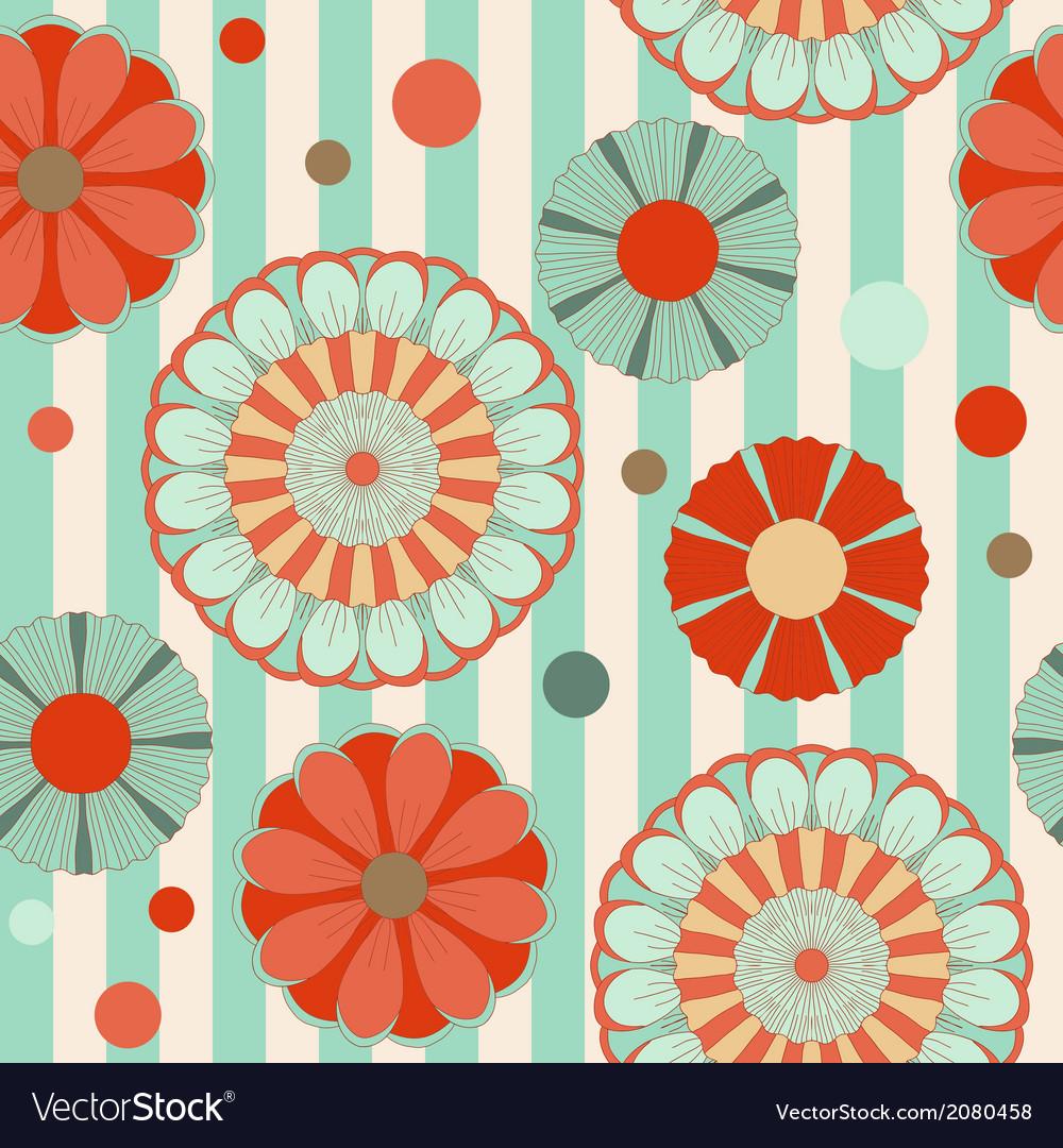 Spring pastel floral saemless pattern vector image