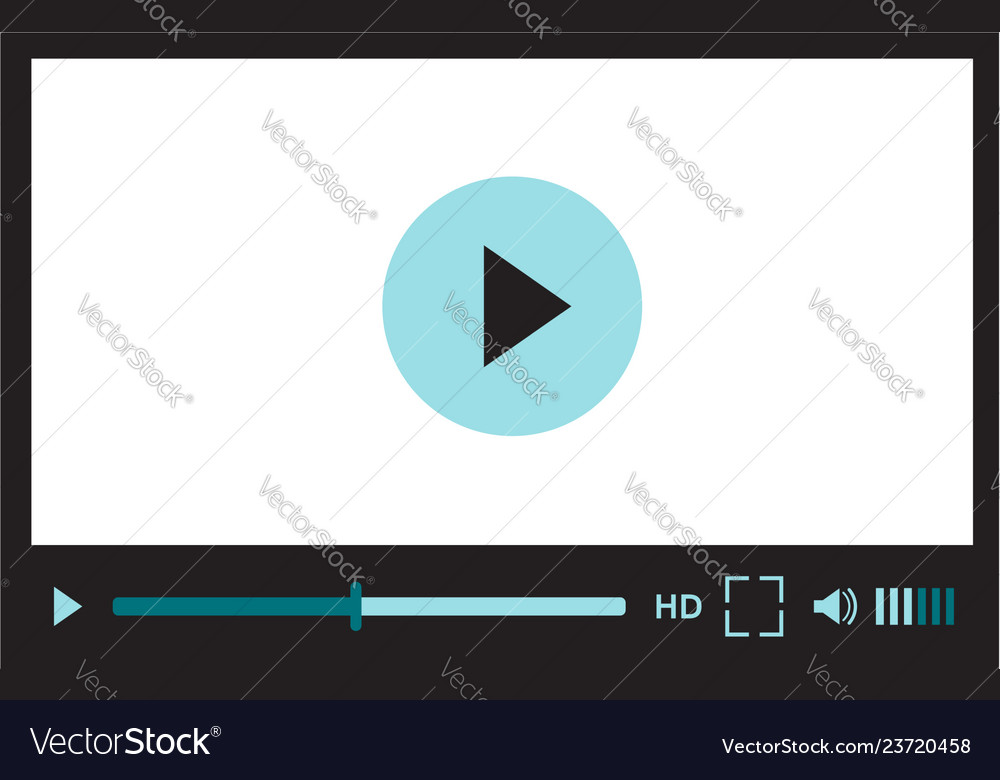Video player interface for web site design or