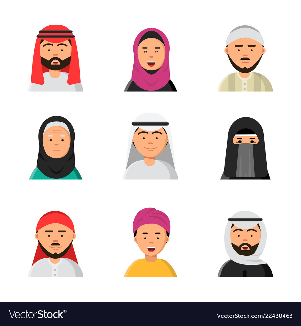 Arab avatars islam muslim portraits of male and