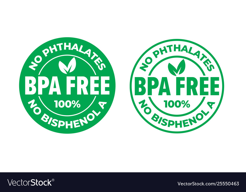 Bpa free certificate icon no phthalates and no