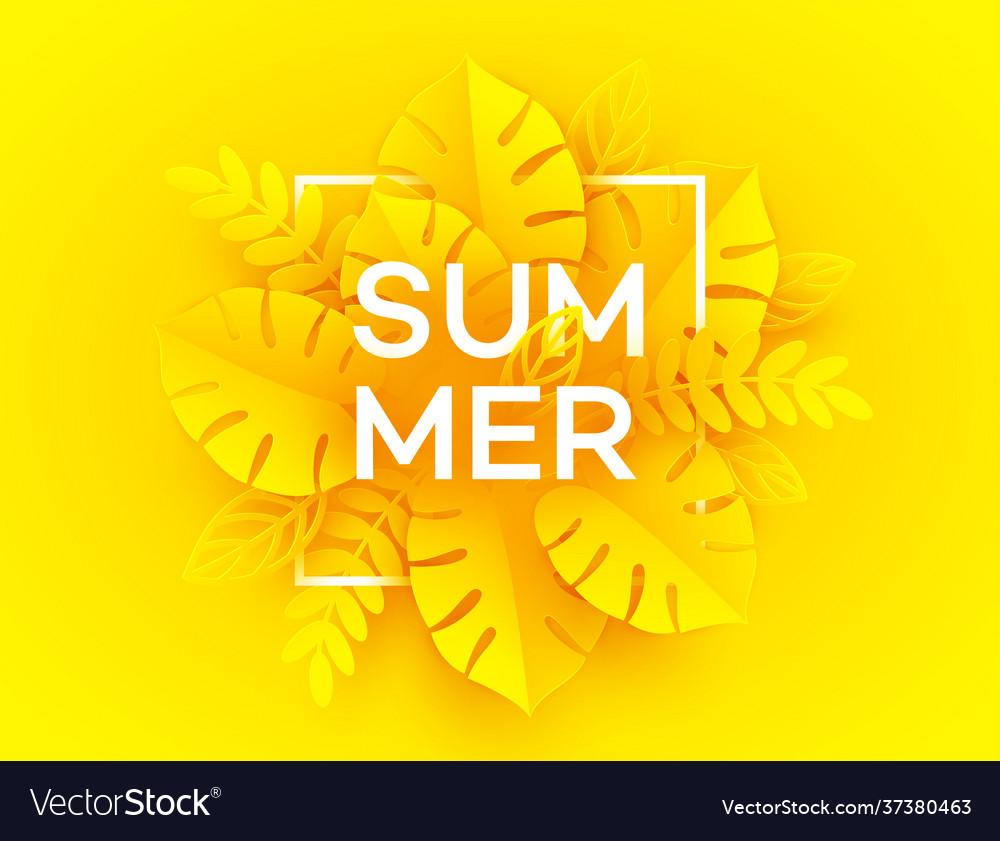 Bright yellow summer background inscription