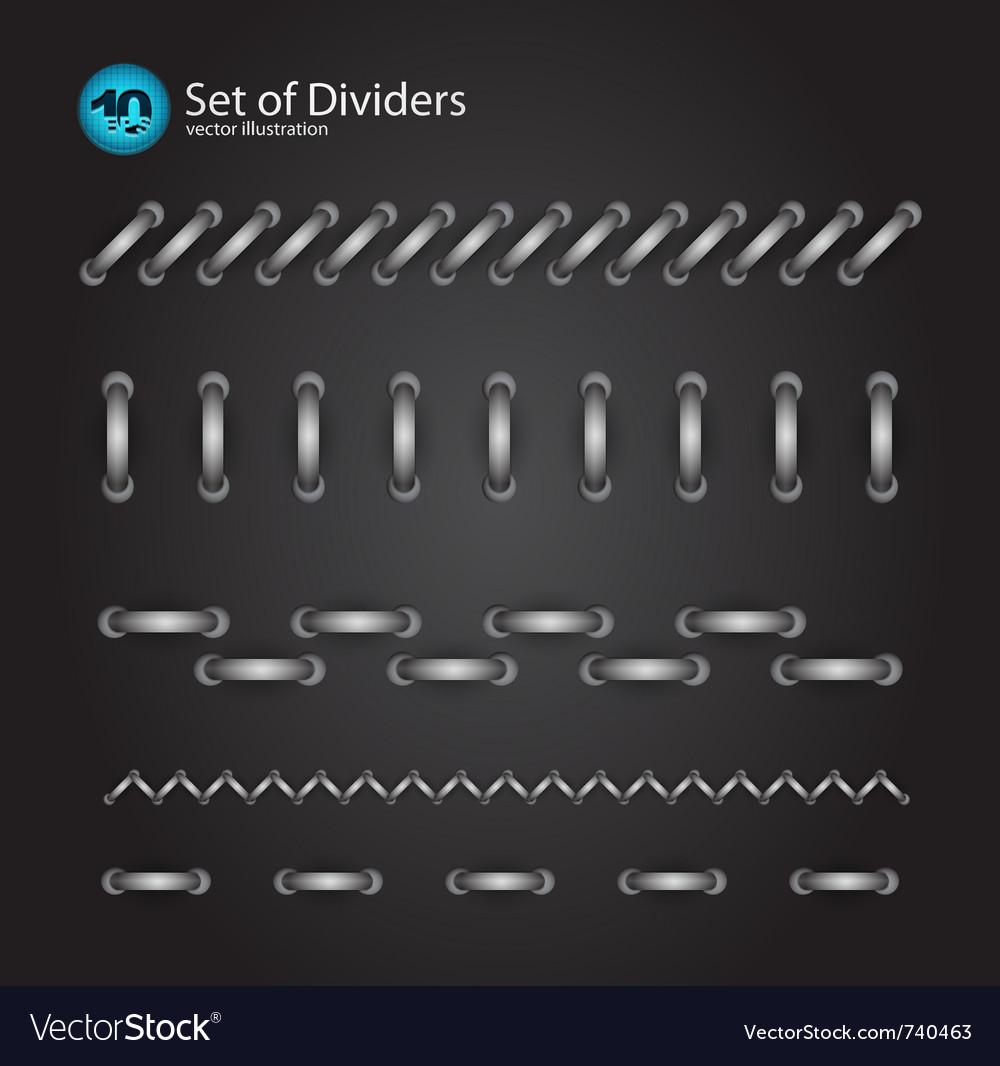 Cord divider set