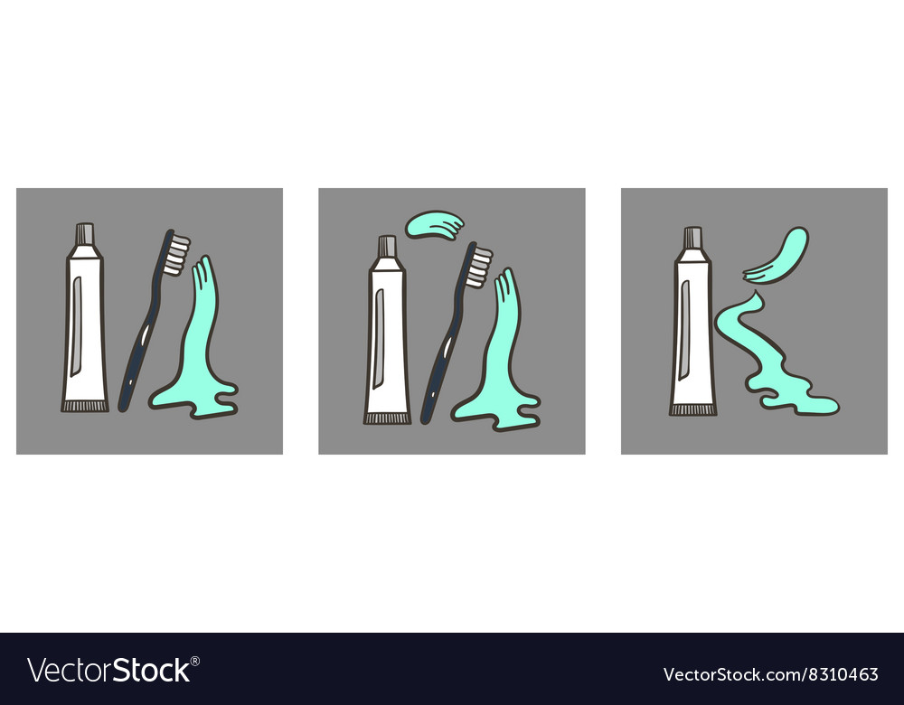 Decoartive Font Toothpaste Part 4 vector image