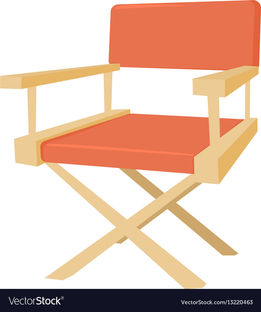 Film director chair icon cartoon style vector image  sc 1 st  VectorStock & Film director chair icon cartoon style vector image on VectorStock
