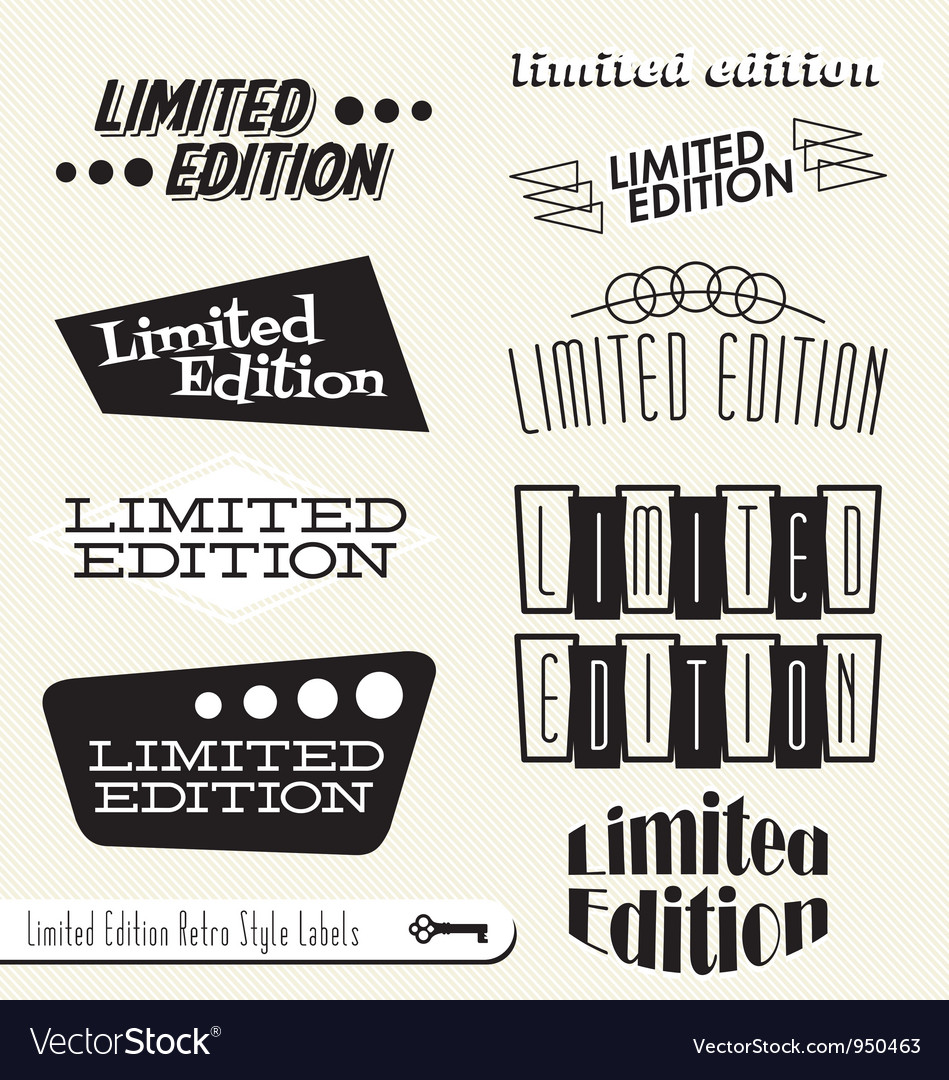 Limited Edition Labels