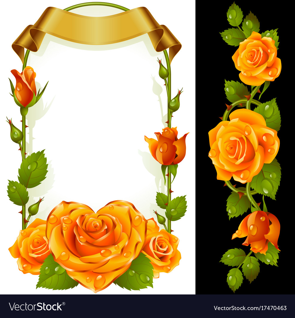 Set of floral decoration yellow roses green