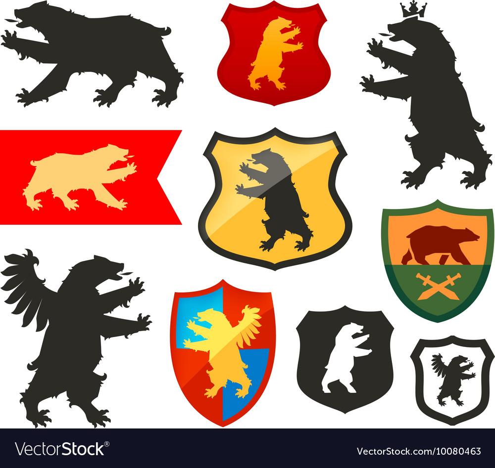 Shield with bear logo coat arms