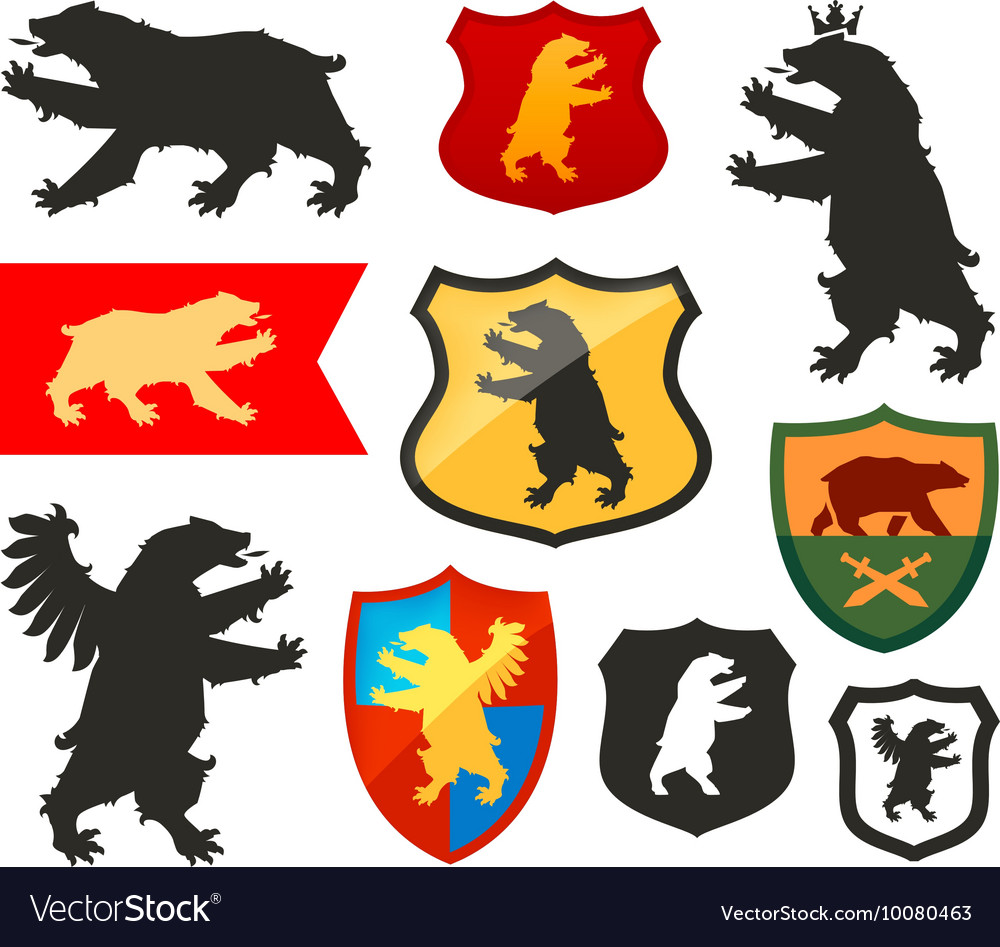 Shield with bear logo Coat of arms