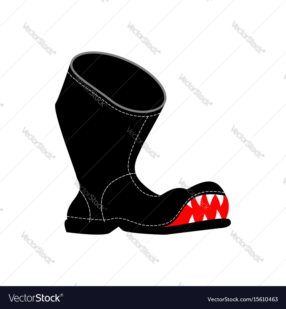 Torn boots with teeth poor old shoes isolated vector image