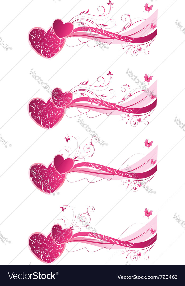 Valentines day floral vector image