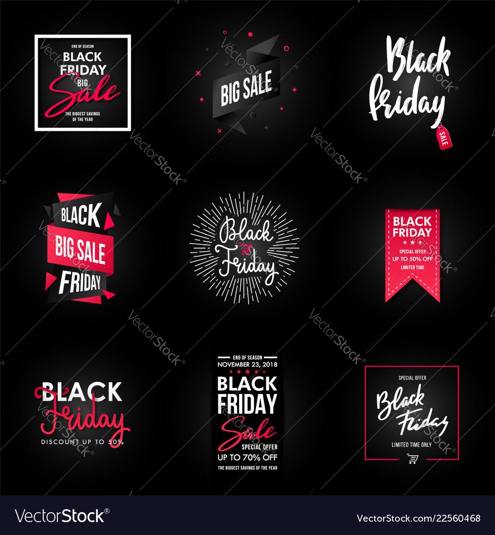 Black friday sale banner design graphic element