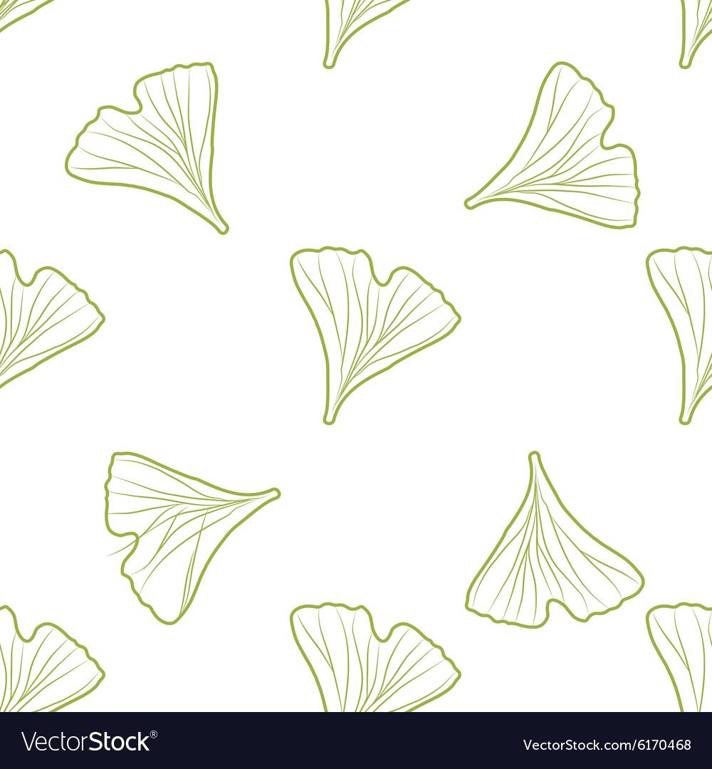 Ginkgo biloba pattern seamless Silhouette of
