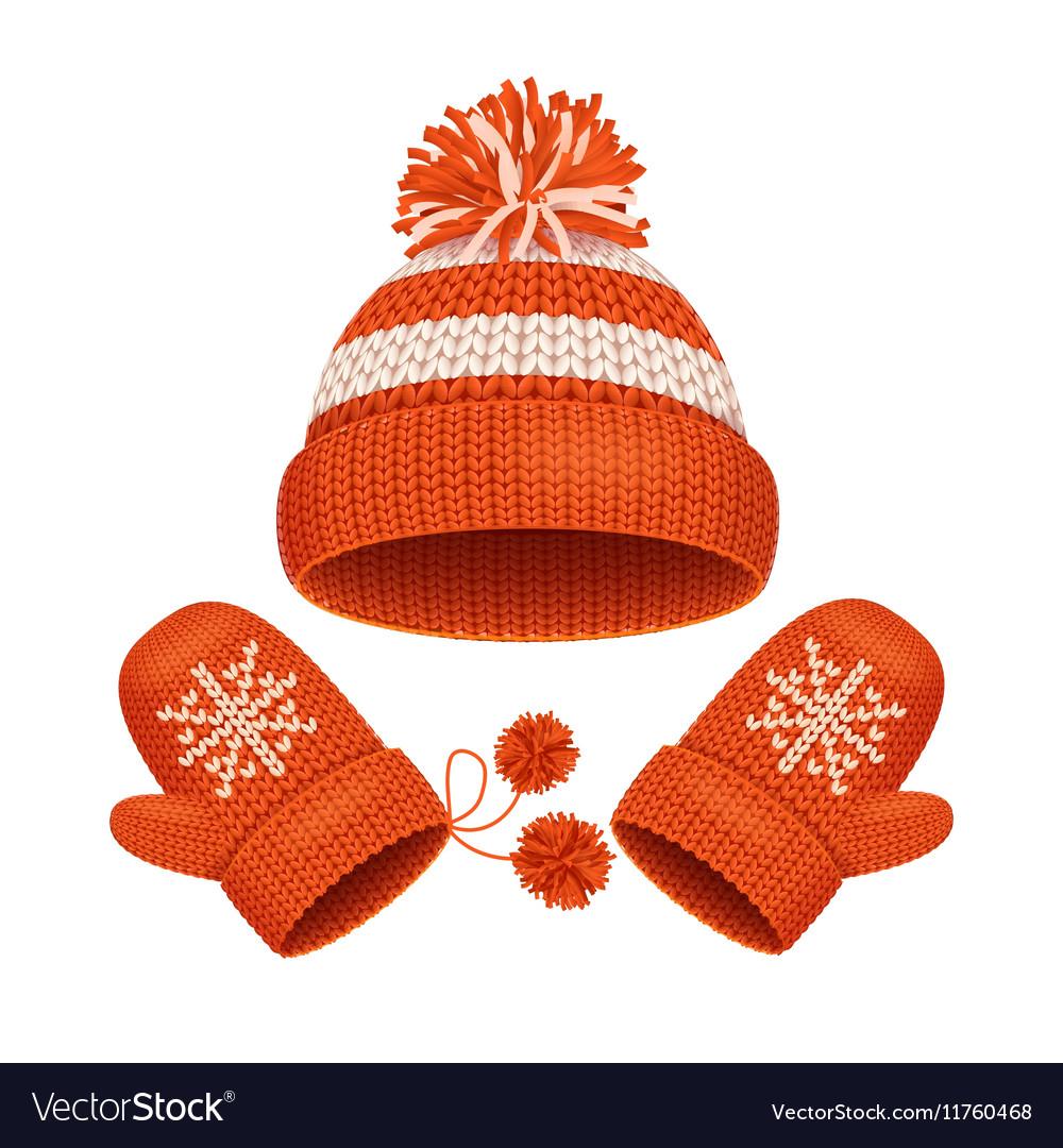 Hat and Mitten Set Winter Accessories