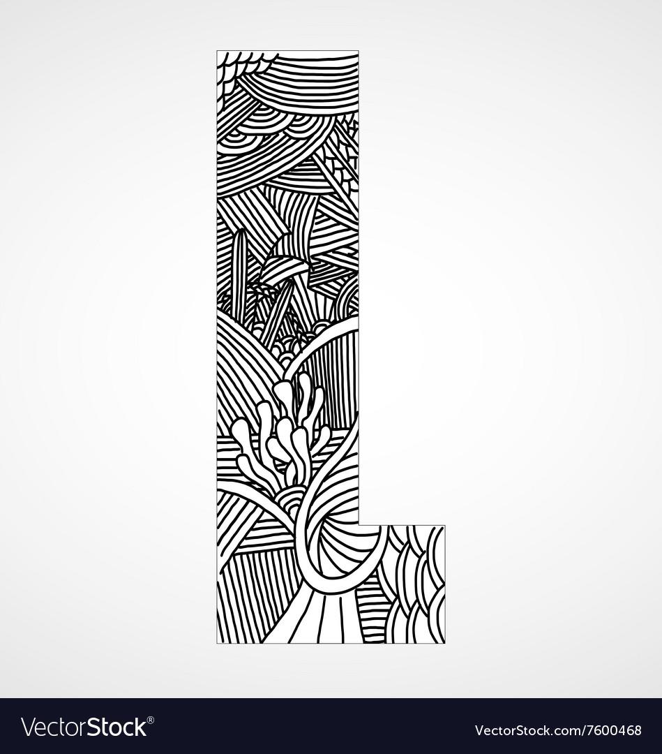 Letter L from doodle alphabet
