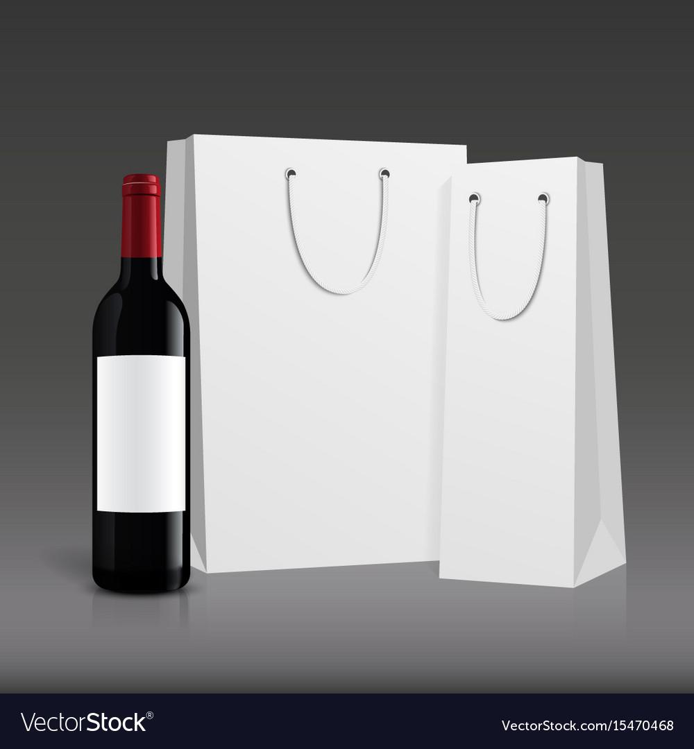 Mockup wine bottle design