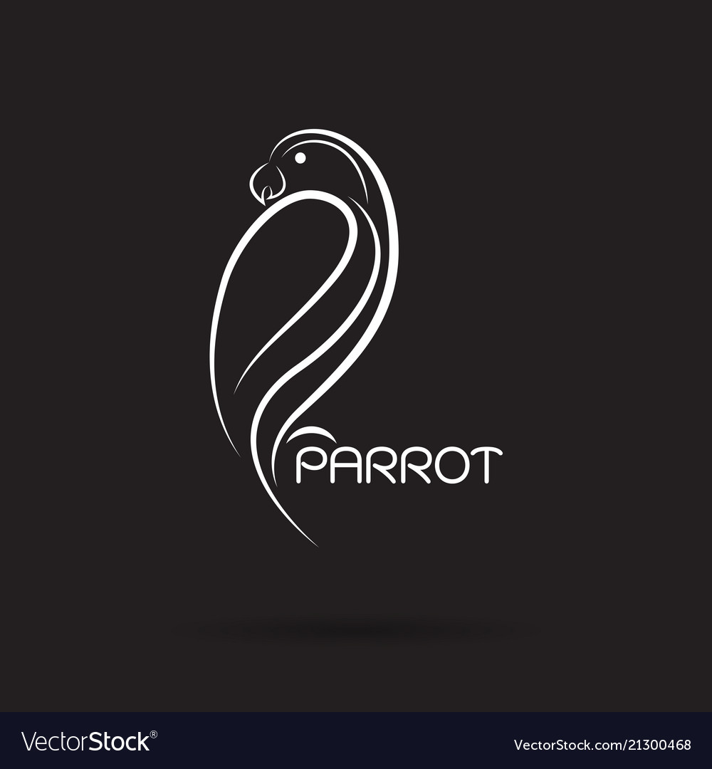 Parrot design on black background bird icon