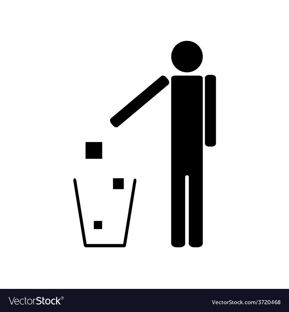 People throwing trash ecology
