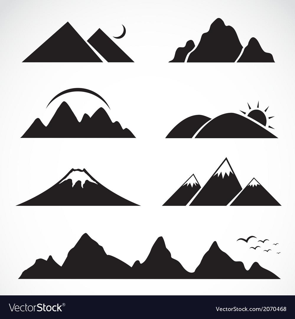 Set mountain icons