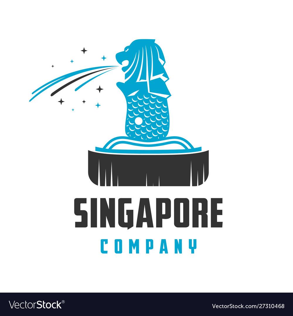 Singapore landmark logo design