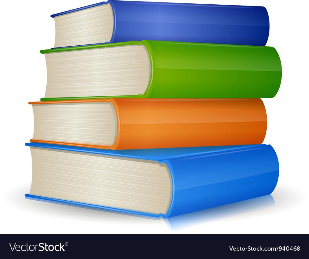 stack books vector vectorstock royalty english