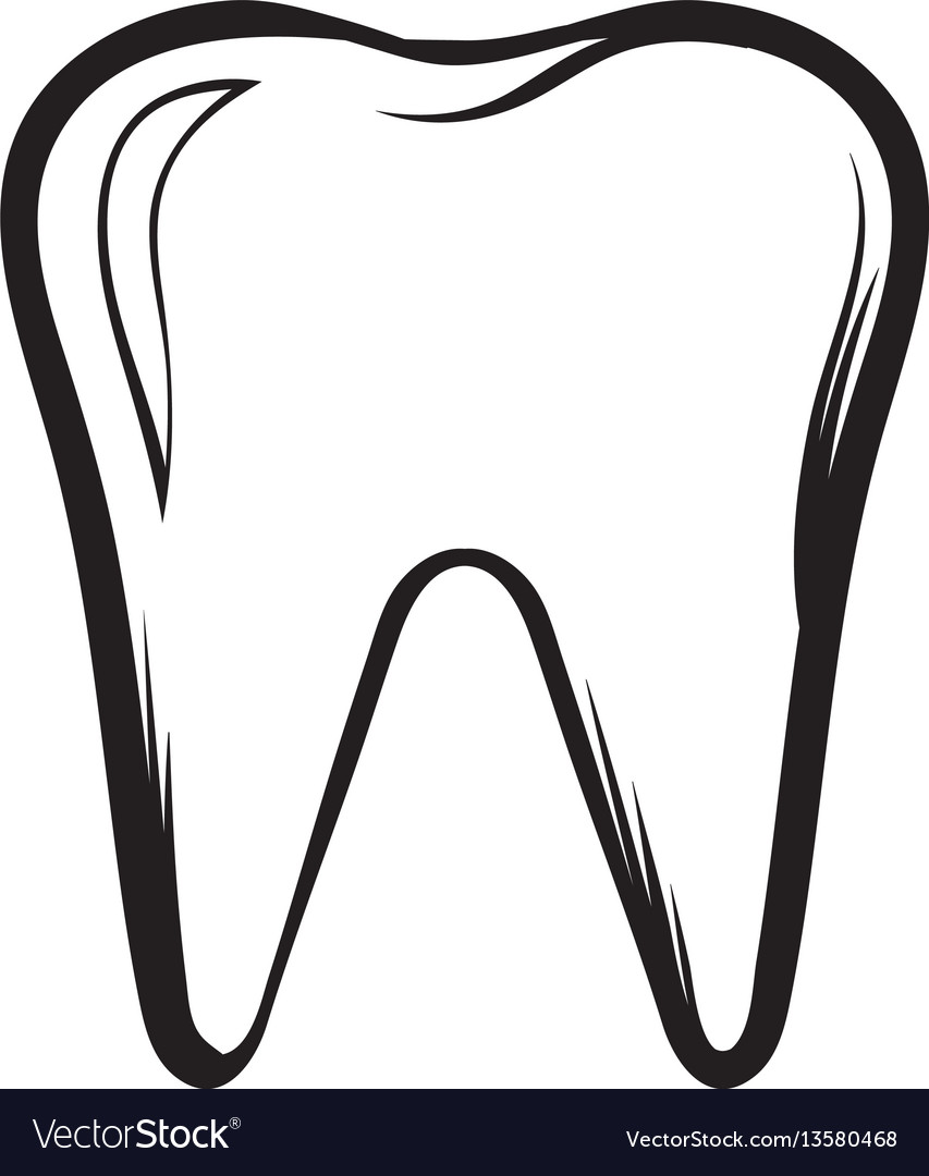 Tooth icon cartoon