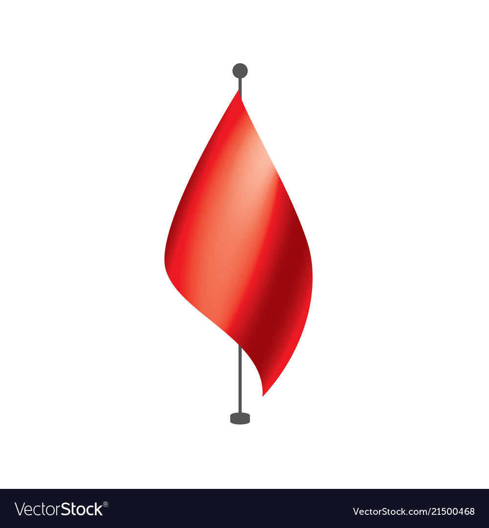 Waving the red flag on a white background