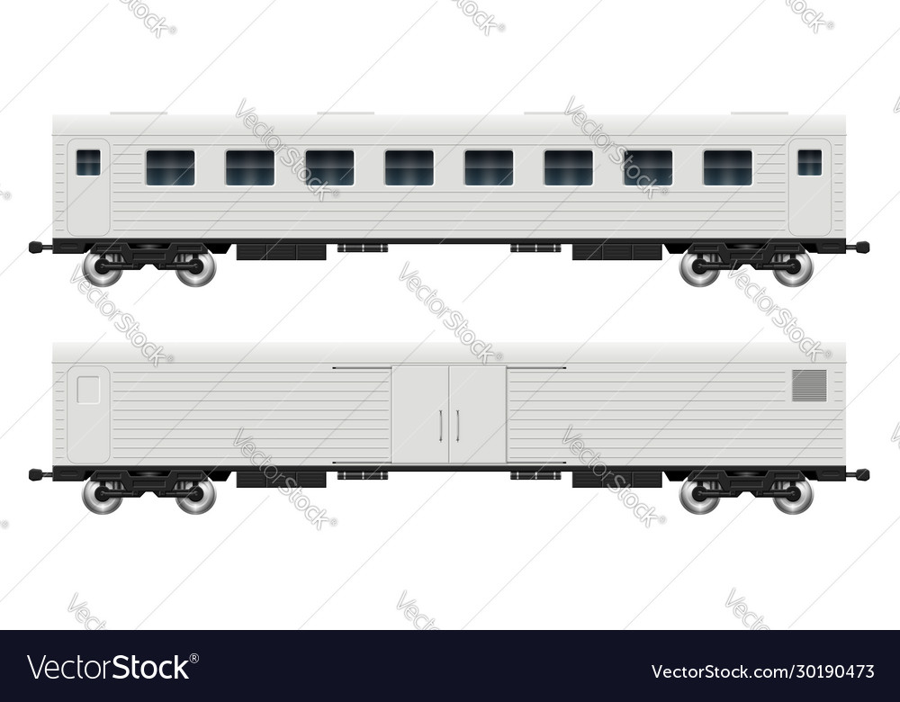 Cargo and passenger railroad cars