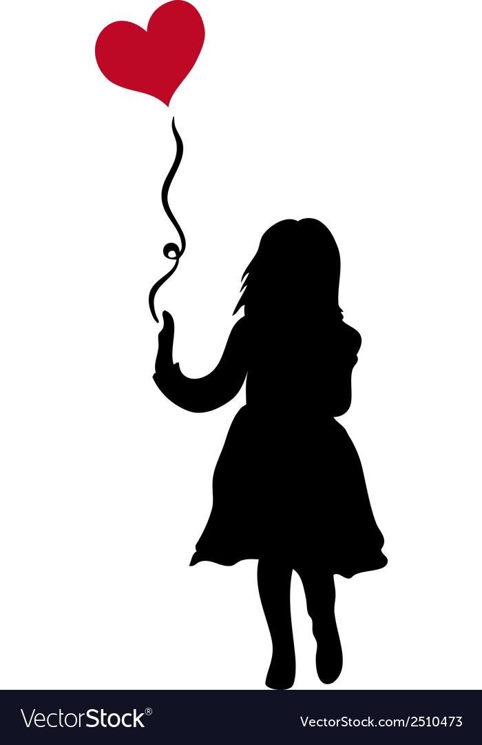 child silhouette royalty free vector image vectorstock rh vectorstock com child ballerina silhouette vector parent child silhouette vector