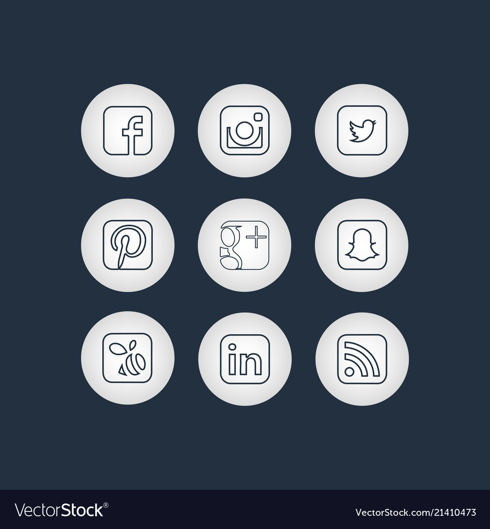 Golden social network icons with black background