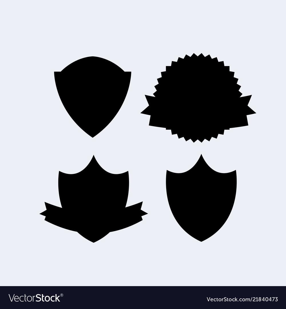 Heraldry shield banner