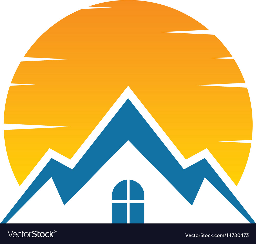 House sunset logo image