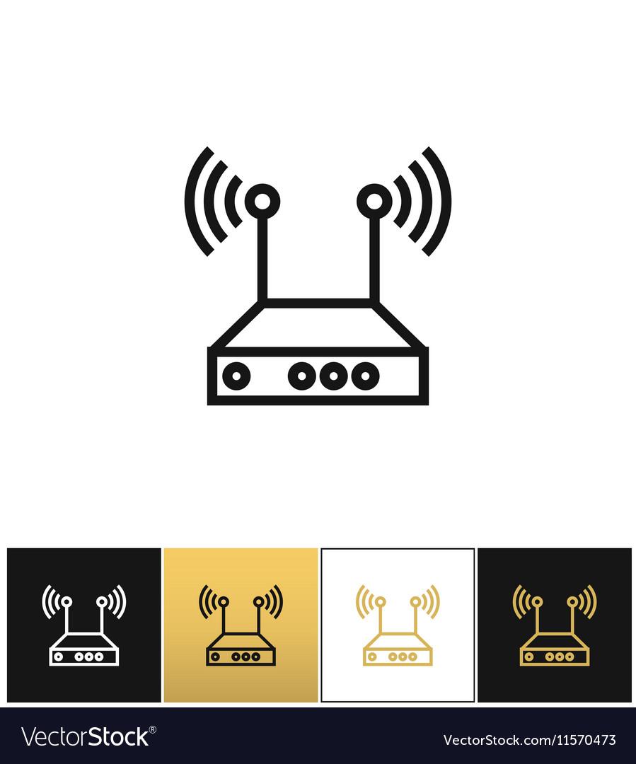 Internet network wireless router icon
