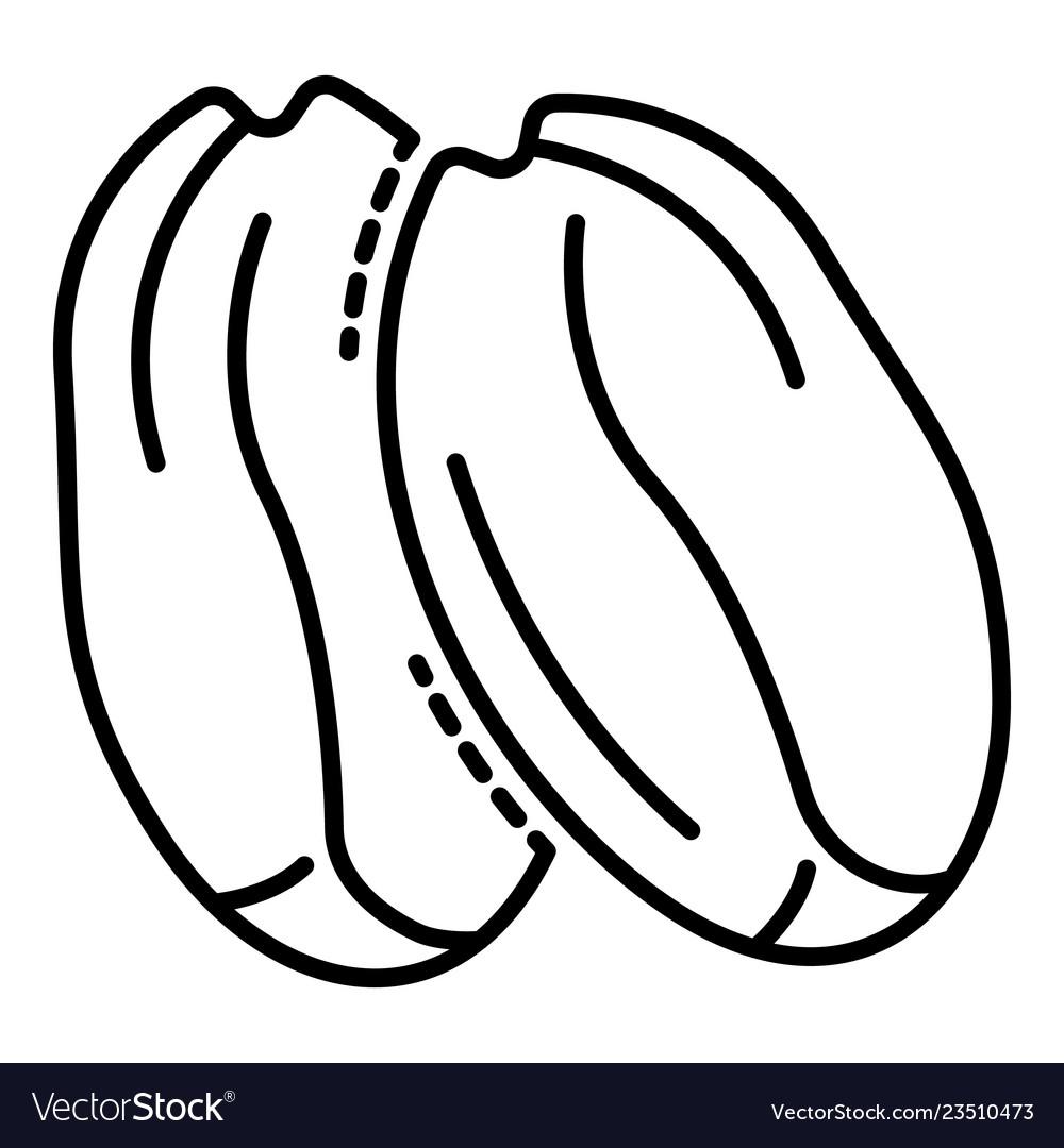 Tasty peanut icon outline style