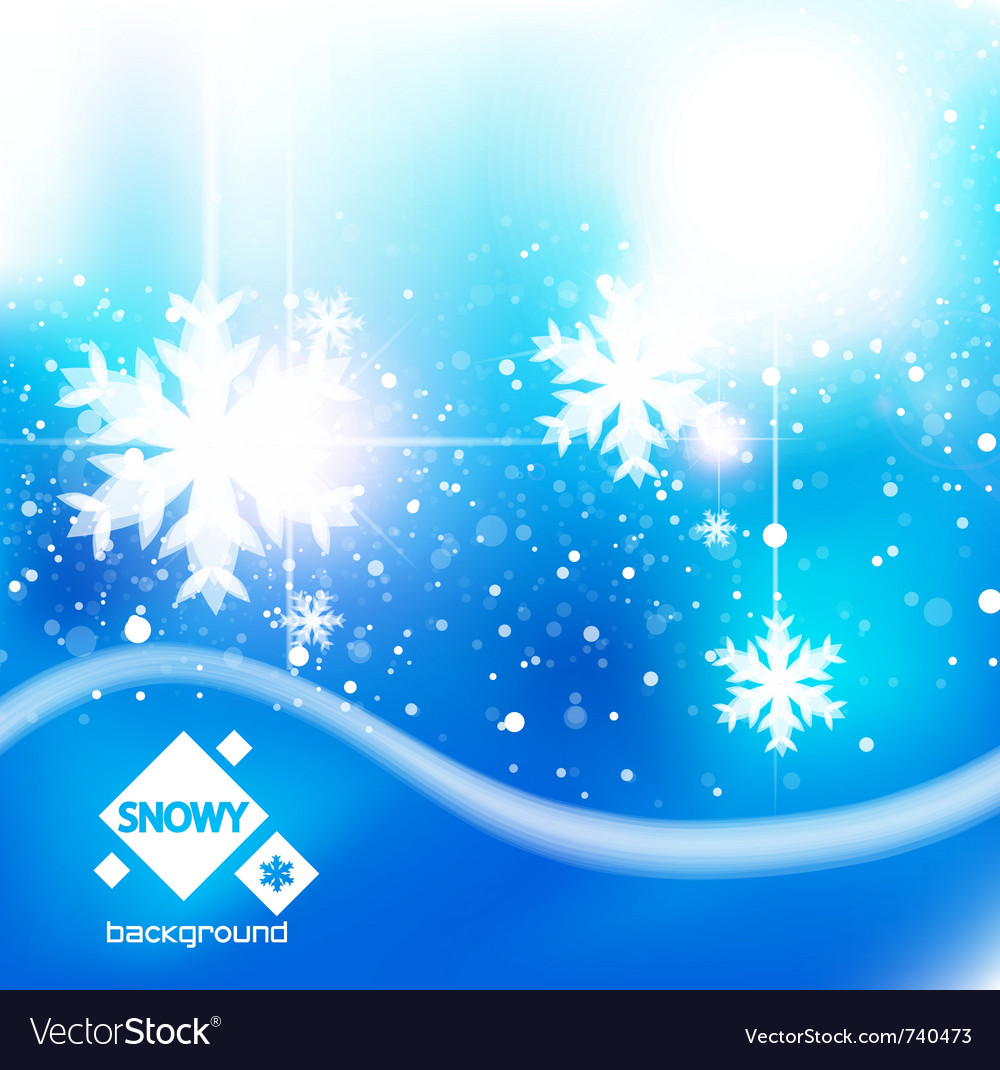 winter snow blue christmas background royalty free vector vectorstock