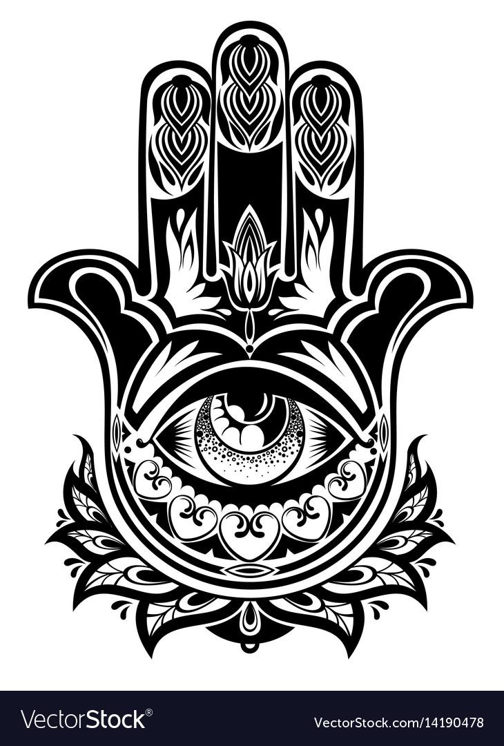 Amulet Hamsa Hand Of Fatima Royalty Free Vector Image