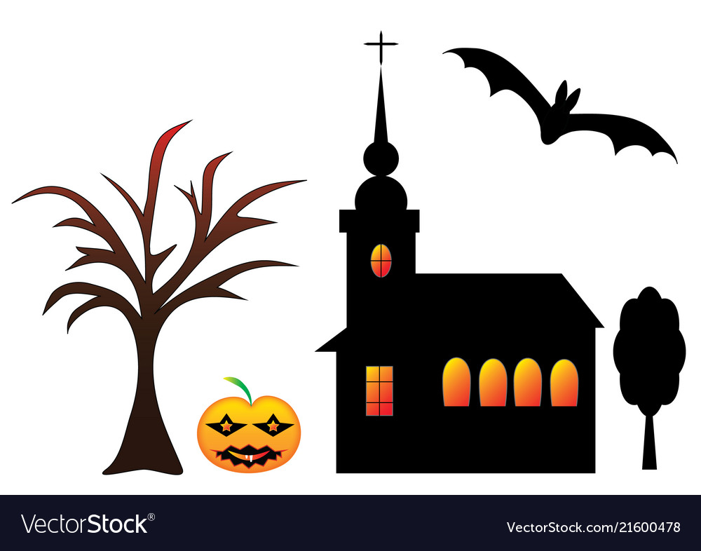 Halloween set of symbols