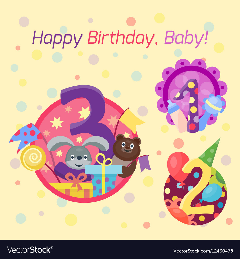 Happy birthday badges icons