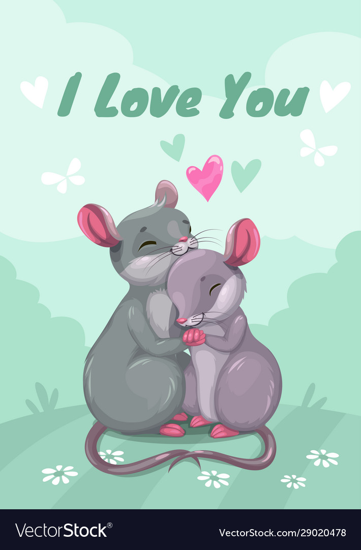I love you mouse in love