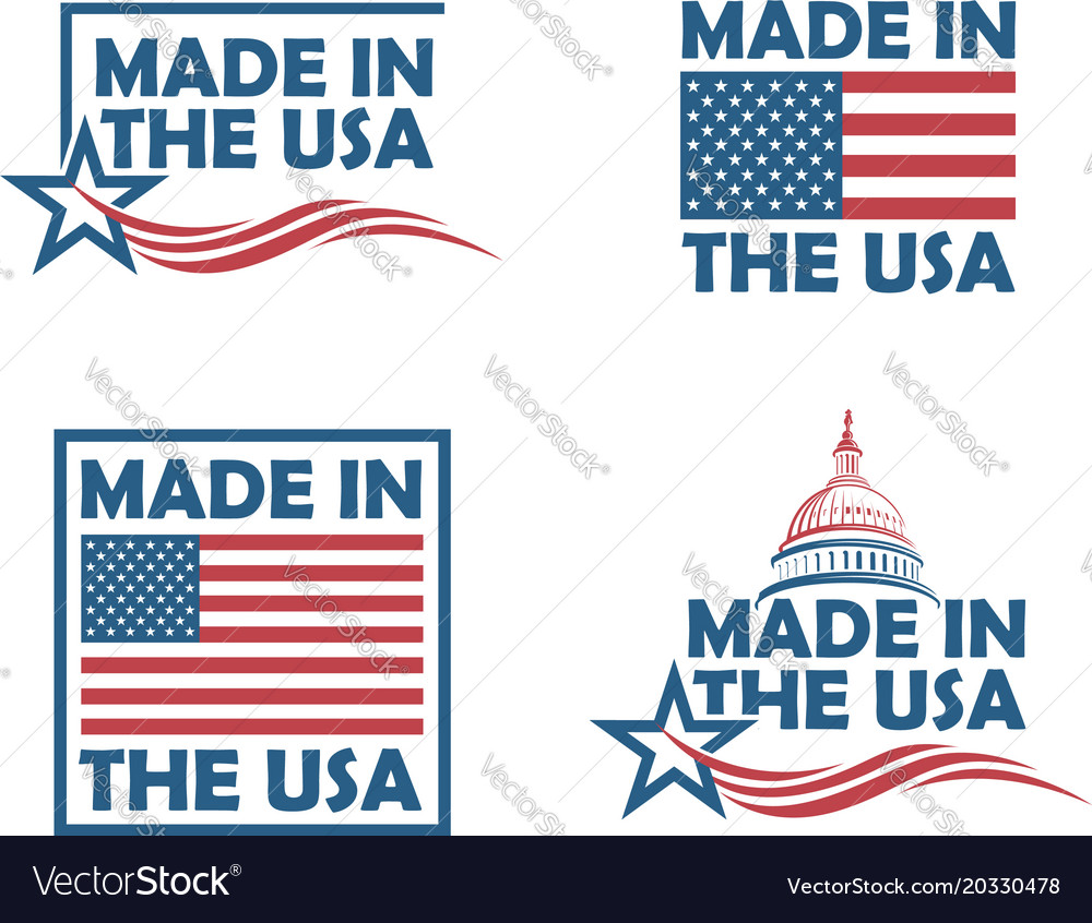 Set of made in usa labels