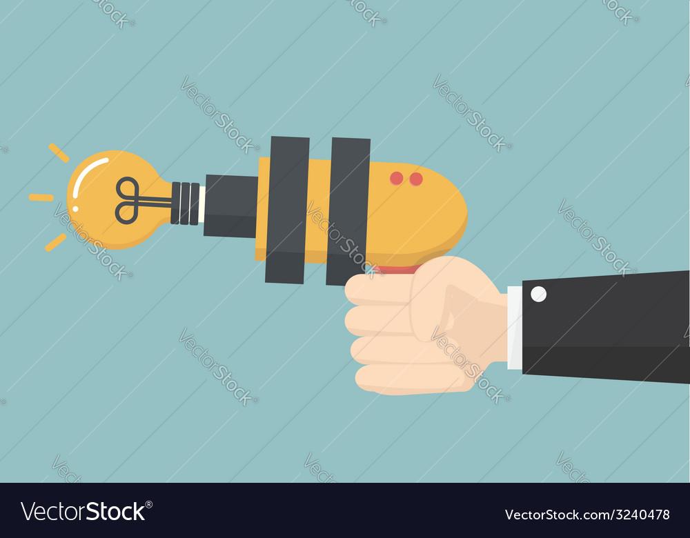 Smart gun vector image